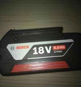 Аккумулятор bosch 18v 6ah