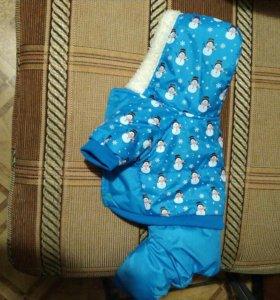 Комбинезон зимний для маленькой собачки