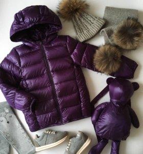 Новые куртка и рюкзак 110см