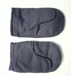 Меховые рукавицы новые