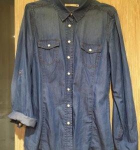 •Джинсовая женская рубашка•