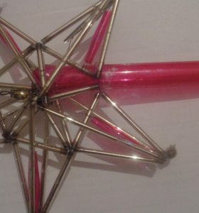 """Новогодняя игрушка """"Звезда из стекляруса"""""""