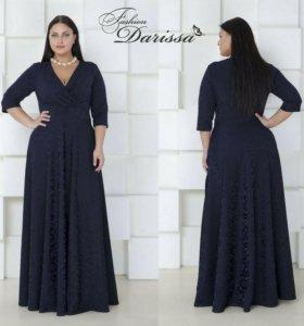 Нарядное платье 62-64 размера, в пол