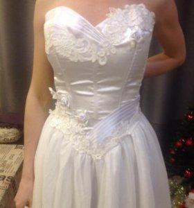 Свадебное платье корсет