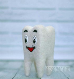 Подарок для стоматолога зуб интерьерный