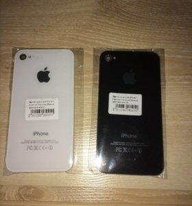 Здание крышки на iPhone 4 белого и чёрного цвета