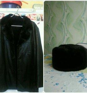 Куртка зимняя мужская + шапка