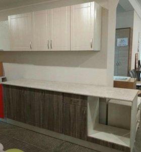 Кухонный гарнитур 2,4 м МДФ с общей столешницей