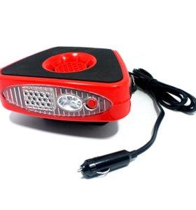 Тепловентилятор для автомобиля skyway с фонарем