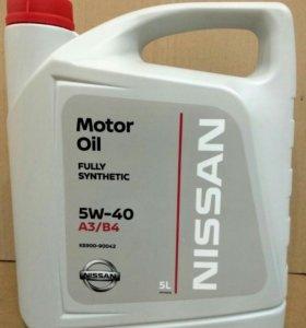 Моторное масло Nissan Motor Oil 5W-40, 5л