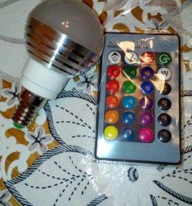 Лампа цветная Е-14