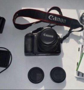 Зеркалка Canon EOS 20D c доп аксессуарами сумка