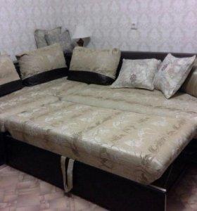 Угловой диван, со спальным местом