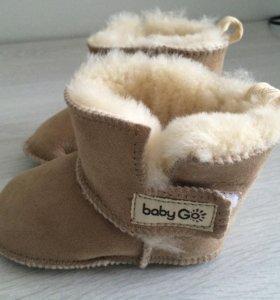 Меховые сапожки - пинетки для малышей BabyGo