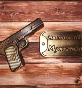 Мыло пистолет. Мужское