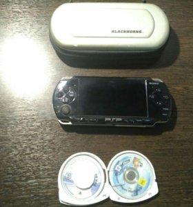 PSP с 2 играми