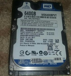 Жёсткий диск 640GB
