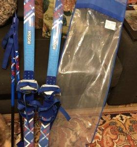 Детские лыжи новые