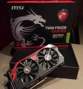 MSI GeForce GTX 760 twin frozr gaming