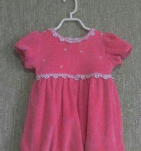 Платье на девочку 2ка+ кофточка боди