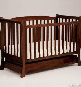 Детская кроватка-трансформер Лель Феррария+матрас