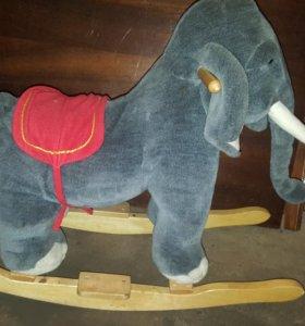 Игрушка слон качалка