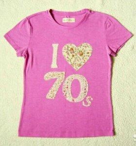 Розовая футболка Sela с аппликацией
