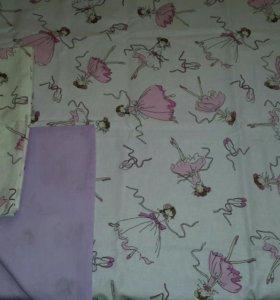 Постельное бельё в детскую кроватку для девочки