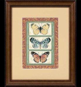 """Набор для вышивания """"Три бабочки""""  Dimensions"""
