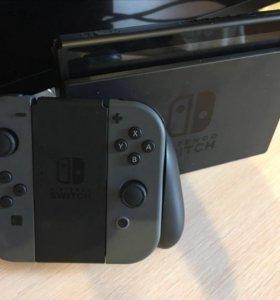 Nintendo switch+3 игры и чехол