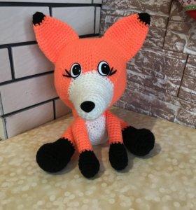 Вязанная игрушка лисёнок 🦊