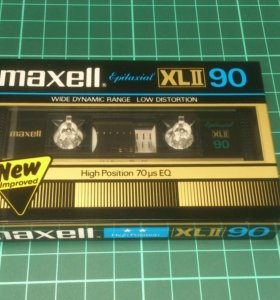Аудиокассета Maxell Epitaxial XLII 90 NEW1982 Jap
