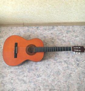 Гитара классическая+чехол+каподастр