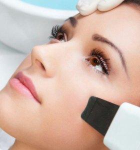 Щадящая чистка лица ультрозвуковая