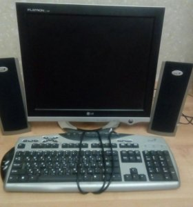 Монитор LG,клавиатура и колонки Genius
