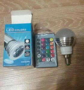 Новая RGB лампочка с пультом ДУ