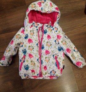 Зимняя куртка на девочку 86-92