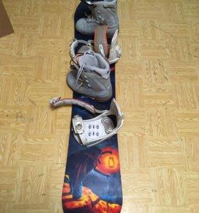 сноуборд комплект унисекс