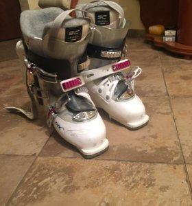 Ботинки для горных лыж.
