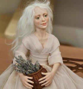 "Кукла ""Девушка с лавандой"""