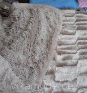 Плед-покрывало с длинным ворсом пушистый норка
