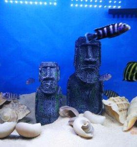Статуя острова Пасхи, декор для аквариума (1 шт.)