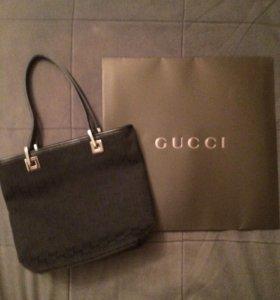 Authentic Gucci Black GG Canvas Bag