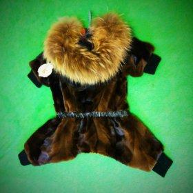 Норковая шубка для собачки шуба куртка комбинезон