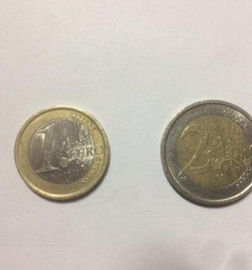 2 монеты евро Италия