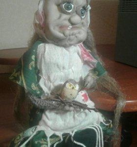 Кукла Бабуля с совой