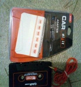 кассета адаптер aux для авто магнитолы
