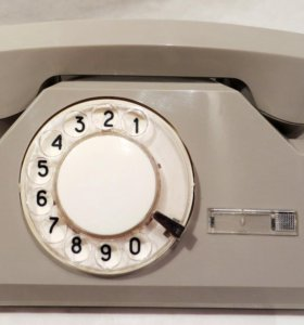 Дисковый телефон ТА-72 СССР серый