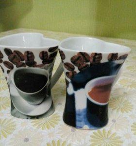Кружки для кофе сердечки
