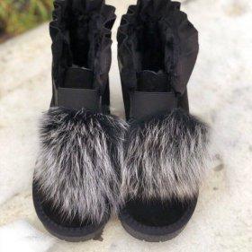 Ботинки с натуральным мехом